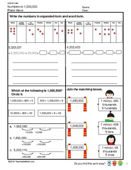 G5S1W1-MW Numbers to 10,000,000 Counting & Place Value (Singapore Math)