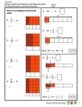 G5S1W12-MW Fractions Dividing Fraction by a Whole Number (SG Mastery Method)