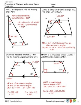 G5S2W12-MW2 Properties of Triangles & 4-Sided Figures-w/Solutions (SG Mastery)