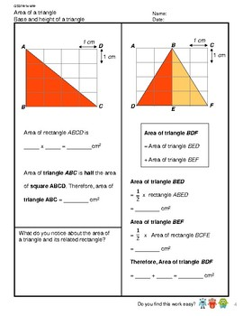 G5S1W14-MW Area of a Triangle (Singapore Mastery Method)