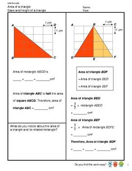 G5S1W14-MW Area of a Triangle (Singapore Mastery Method)