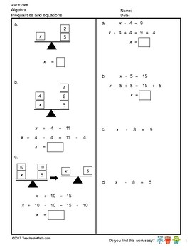 G5S1W17-MW Algebra Using Letters as Numbers (Singapore Mastery Method)