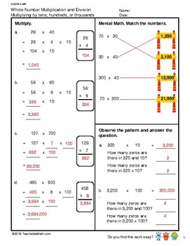 G5S1W3-MW Whole Number Multiplication - W/Solutions (Singapore Mastery Method)