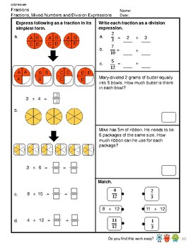 G5S1W8-MW Fractions Division Expressions as Decimals (Singapore Mastery Method)
