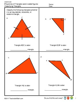 G5S2W10-MW Properties of Triangles & 4-sided Figures (Singapore Math)