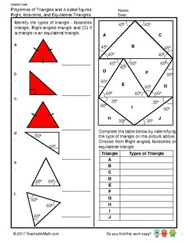 G5S2W11-MW1 Properties of Triangles & 4-Sided Figures (Singapore Mastery Method)