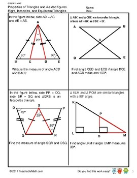 G5S2W11-MW2 Properties of Triangles & 4-Sided Figures (Singapore Mastery Method)