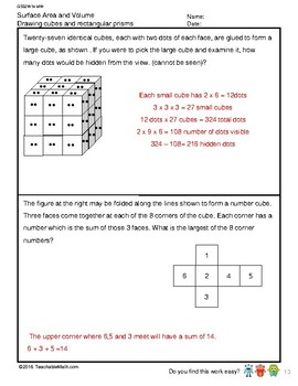 G5S2W14-MW Surface Area and Volume_With Solutions (Singapore Mastery Method)