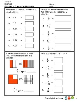 G5S2W2-MW Decimals Rounding and Fractions (Singapore Mastery Method)