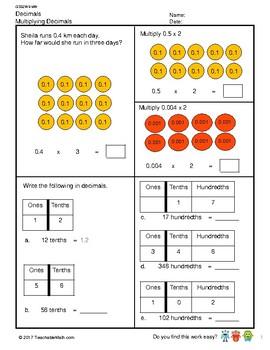 G5S2W3-MW Multiplying Decimals (Singapore Mastery Method)