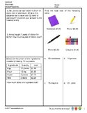 G5S2W6-MW Decimals Word Problems (Singapore Mastery Method)