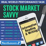 Bundle G6 Informative Reading & Writing - Stock Market Savvy Performance Task