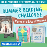 Bundle G6 Percents & Expressions - Summer Reading Challenge Performance Task