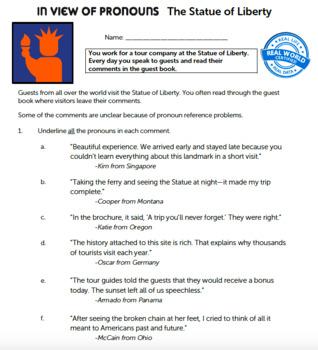 G6 Pronoun Shifts & Vague Pronouns - In View of Pronouns Essential: St of Lbty