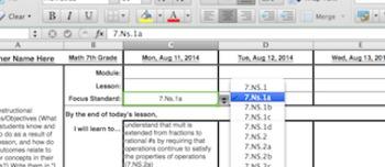 G7 Math Lesson Plan Template