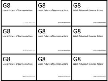 G8 ABLLS- R ALIGNED labels pictures of common actions