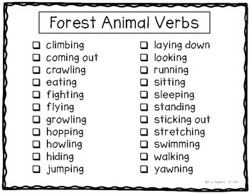 G8 Labeling Forest Animal Action Photos