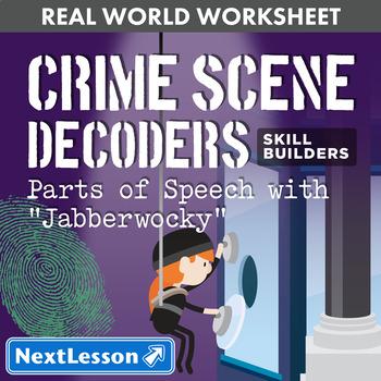 "G9-10 Parts of Speech with ""Jabberwocky"" - Crime Scene Dec"