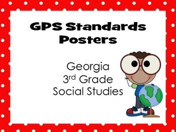 GA 3rd Grade Social Studies Standards - Posters