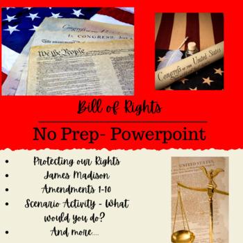 GA 4th Grade Bill of Rights PowerPoint + Activity