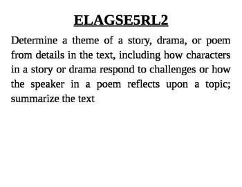 GA 5th Grade Standards: ELA