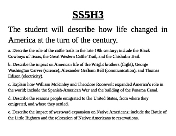 GA 5th Grade Standards: Social Studies