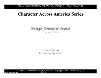 GA Character Development Journal Writing - Primary