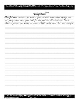 GA Character Development Journal Writing - Upper Elementary