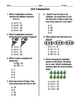 GA Common Core 3rd Grade Math Unit 1 Assessment by Mrs D Teaches Third