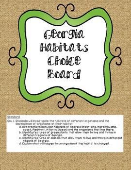 GA Habitat Choice Board