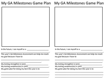 GA Milestones Game Plan