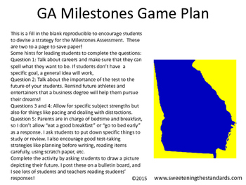 GA Milestones Game Plan