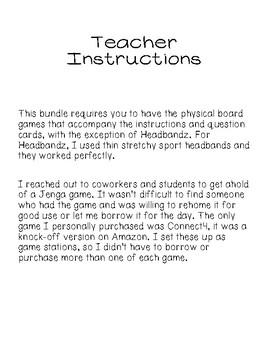 GA Milestones Review Games BUNDLE
