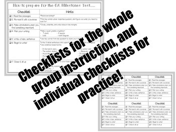 GA Milestones Test Prep Resources BUNDLE (BW & Colored Posters)