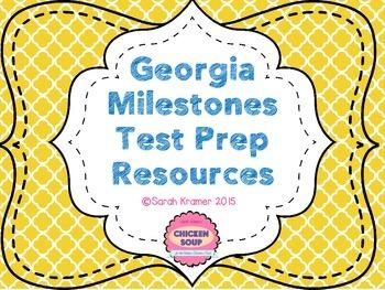 GA Milestones Test Prep Resources (Gray-scale Posters)