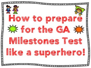 GA Milestones Test Prep Resources (Colored Posters)