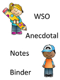 GA PREK WSO Anecdotal Notes Binder Editable