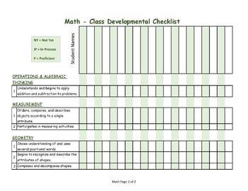 GA Pre-K WSO Class Developmental Checklist