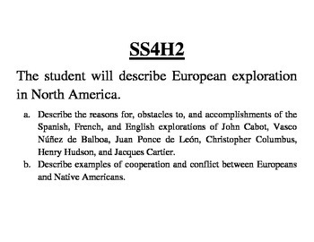GA 4th Grade Standards: Social Studies
