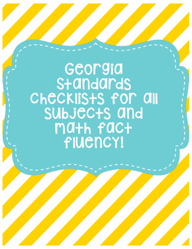GA Standards Checklist (All Subjects)
