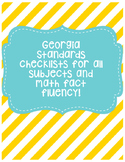 GA Standards Checklist (All Subjects)