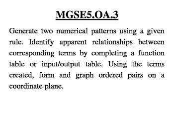 GA 5th Grade Standards: Mathematics