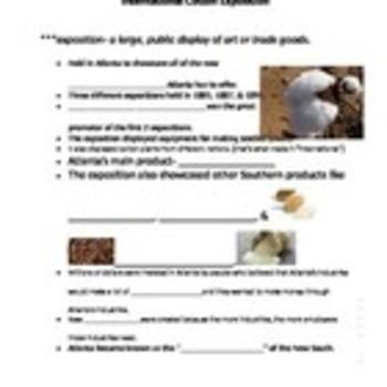 Georgia Studies Cotton Exposition Notes