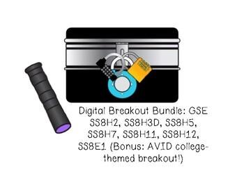 GA Studies Digital Breakout BUNDLE!
