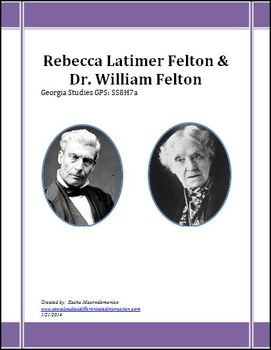 GA Studies Rebecca Latimer Felton PowerPoint & Lesson Plan