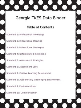 GA Teacher Data Binder - Owls