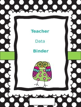 GA Teacher Data Binder - Owls