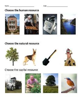 GAA Economics Productive Resources Collection