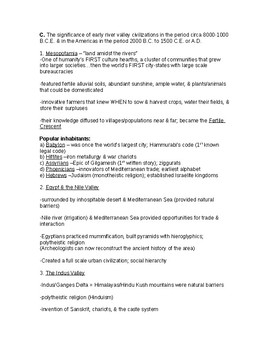 GACE World History COMPLETED Study Guide