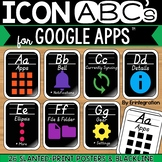 Google Alphabet Cards with Slanted Letters